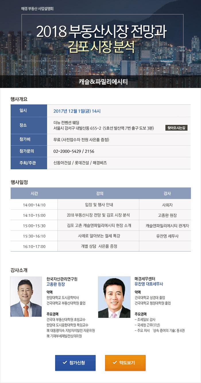 2018 부동산시장 전망과 김포 시장 분석